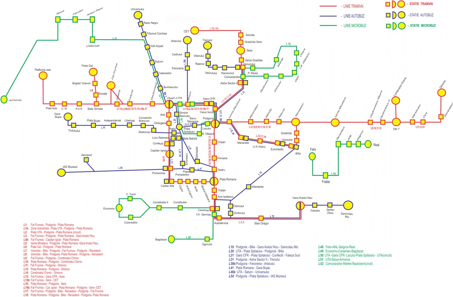 Trams And Tramways In Romania Timisoara Arad Bucharest - Geneva tram map