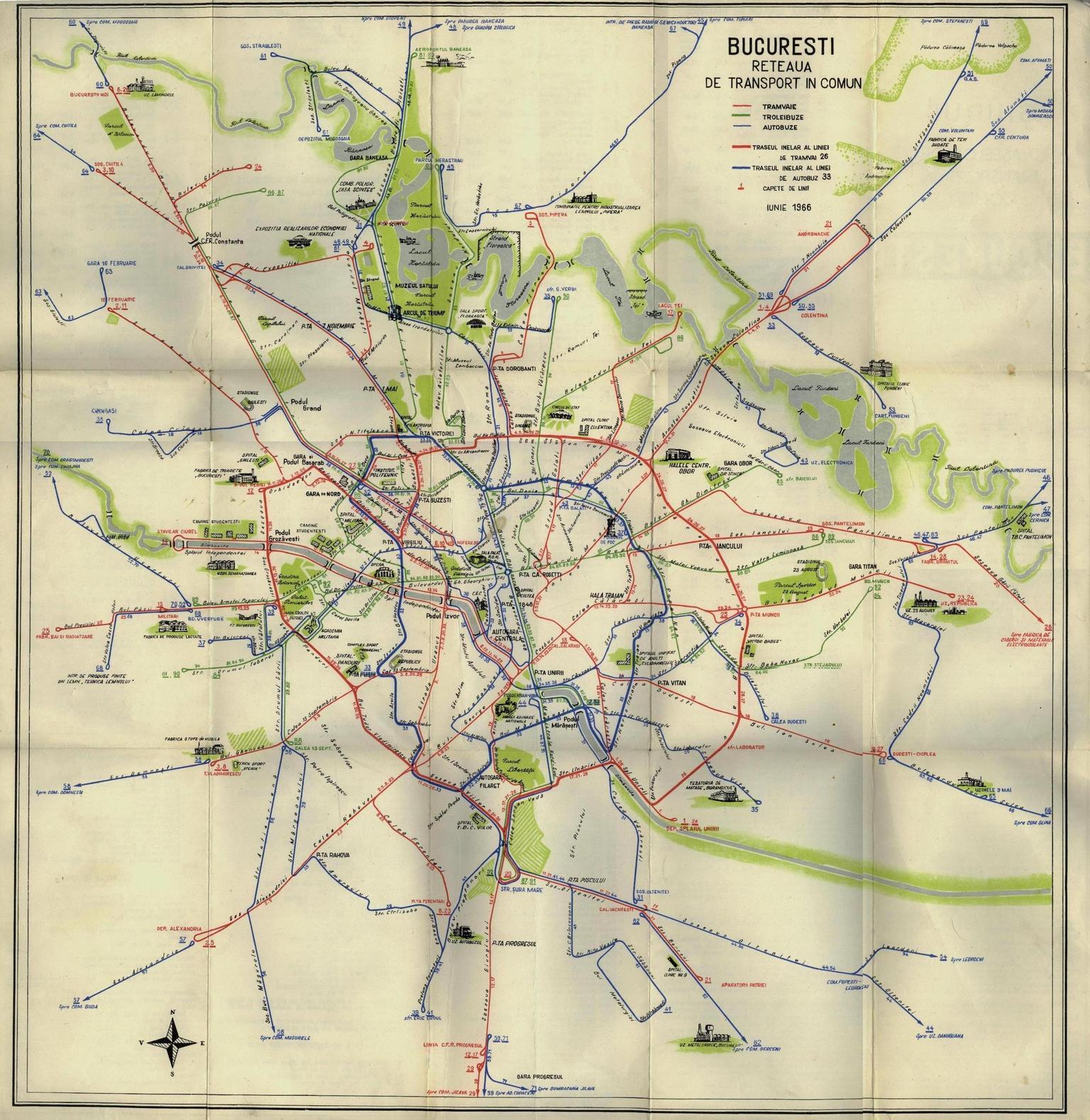 Harti Cu Transportul Public Urban Din Bucuresti