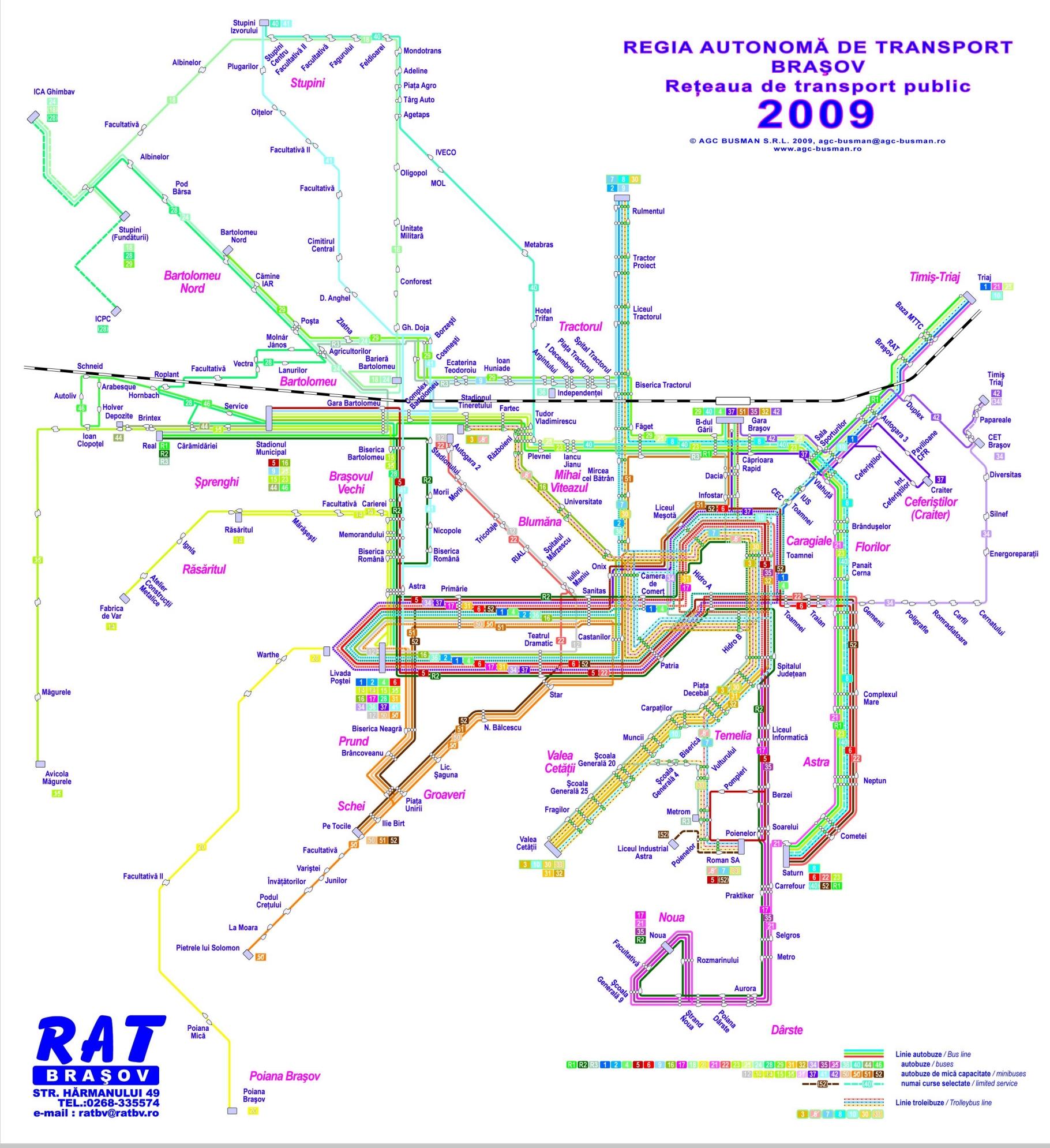 Harti Cu Transportul Public Urban Din Brasov