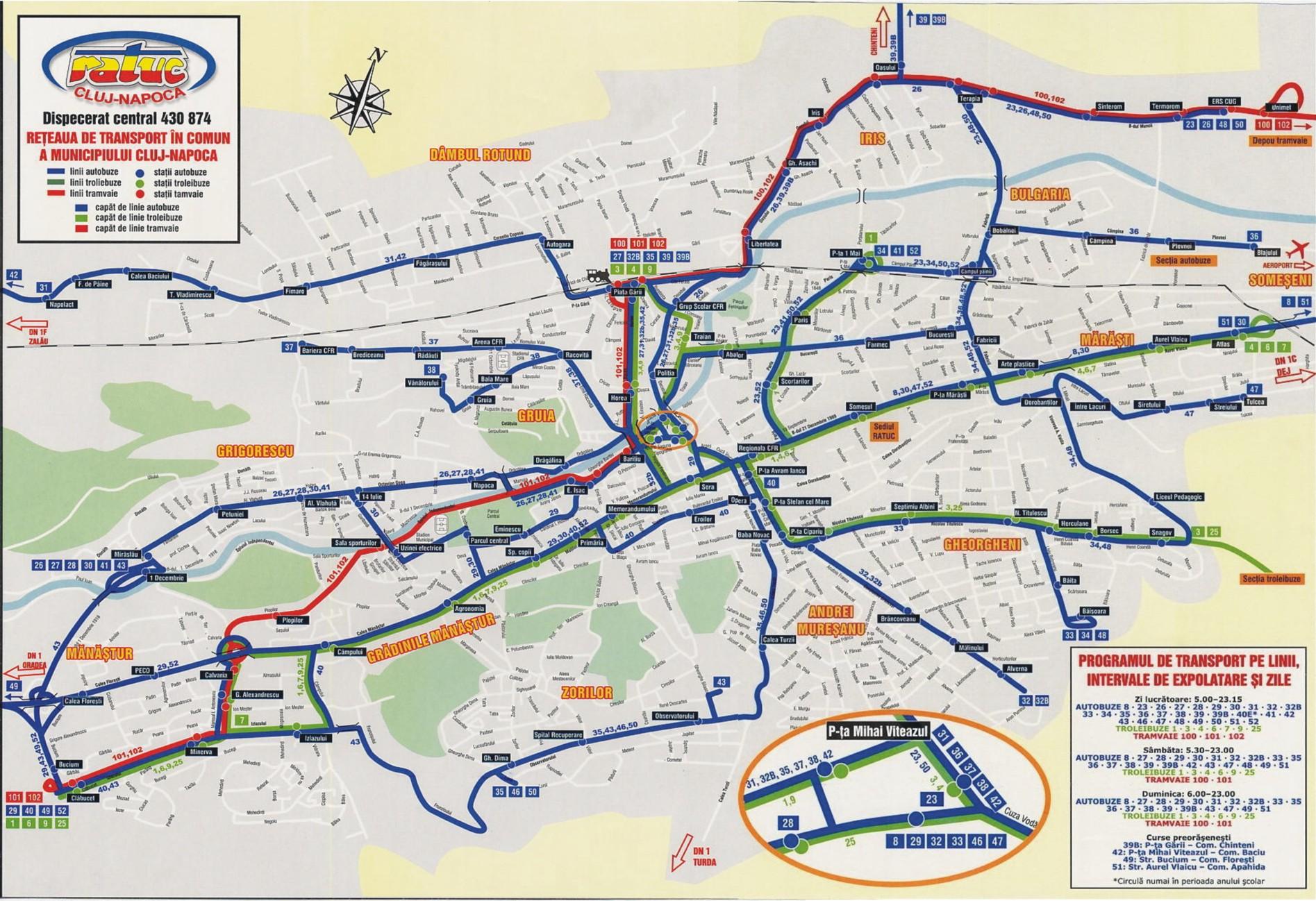 Harti Cu Transportul Public Urban Din Cluj