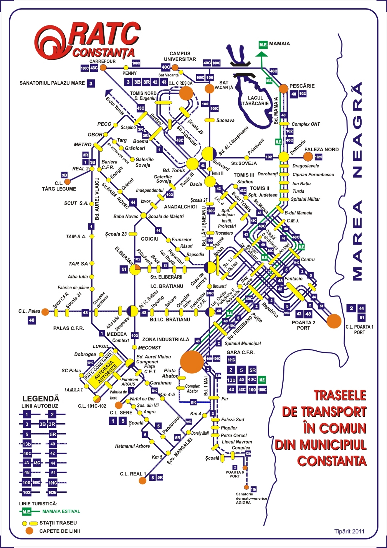 City public transport maps from Constanta