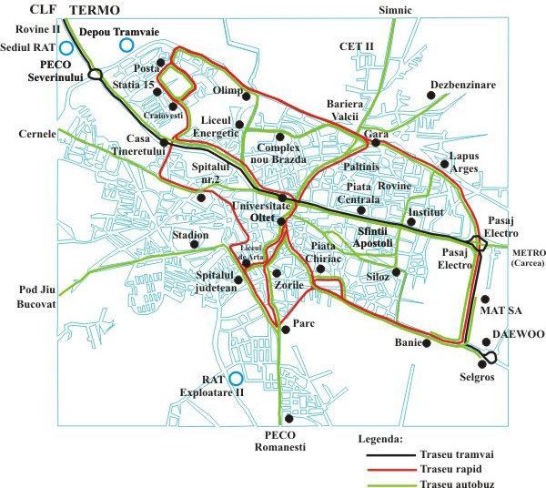 Harti Cu Transportul Public Urban Din Craiova