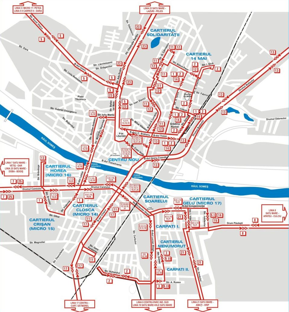 Harta Numere Strazi Bucuresti